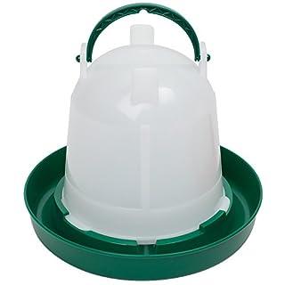 Olba Geflügeltränke 1,5 Liter, Hühnertränke, Stülptränke, Geflügel-Stülpträke, Kükentränke, Wachteltränke mit Bajonettverschluss und Aufhängung