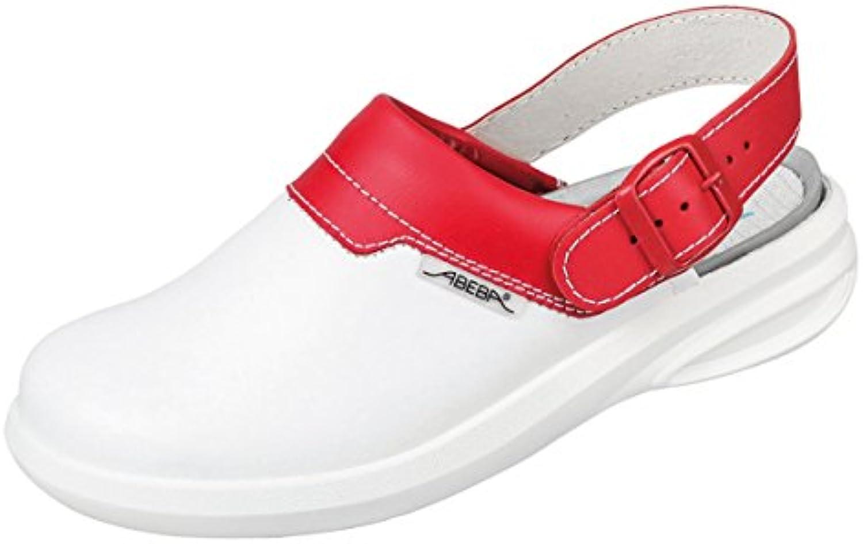 Abeba easy zuecos de colour blanco/rojo