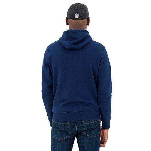 New Era Herren Team Apparel Fz Sweatshirt, Small Blue