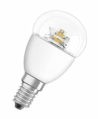 OSRAM LED STAR Ampoule LED, Forme sphérique: E14, 3,3W Equivalent 25W, 220-240V, dépolie, Blanc Chaud 2700K, Lot de 1 pièce