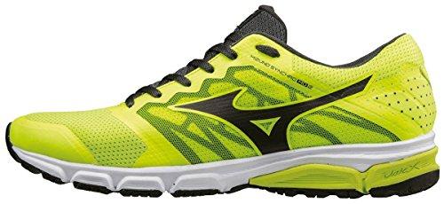 Mizuno Synchro Md 2, Chaussures de Running Entrainement Homme Jaune (Safety Yellow/black/dark Shadow)