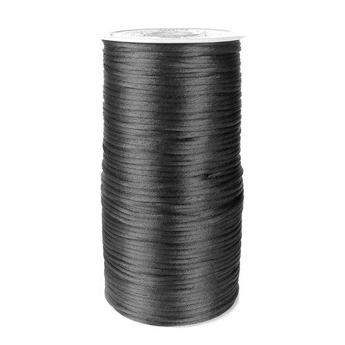 homeford fc0r000a5030200YD Satin Rattail Schnur Chinesischer Knoten, 2mm, schwarz (Spin Satin)