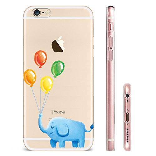 IPHONE 6s Hülle Traumfänger Ballon Karikatur Panda TPU Silikon Schutzhülle Handyhülle Case - Klar Transparent Durchsichtig Clear Case für iPhone 6/6s qq5-1