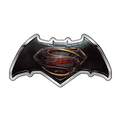 Fan Emblems Batman v Superman: Dawn of Justice Logo Auto Aufkleber gewölbt / Multicolor / Chrome Finish, DC Comics BvS Automotive Emblem Gilt leicht für Autos, Motorräder, Laptops, Handys, etc.