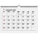 Ankuka Plan Famille Calendrier 2020, Calendrier Mural Mensuel pour l'école, Bureau du Octobre 2019 au Décembre 2020 A3 Blanc...