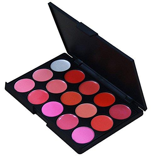 Contever® Set 15 Colori Palette Labbra Trucco - Lucidalabbra Donna Makeup Trucco Cosmetici