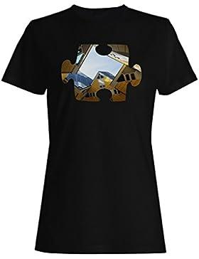 Rompecabezas ciudad vida imagen nueva camiseta de las mujeres e896f