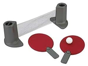 Umbra 480280-909 Pongo Tischtennis Set, rot / chrom