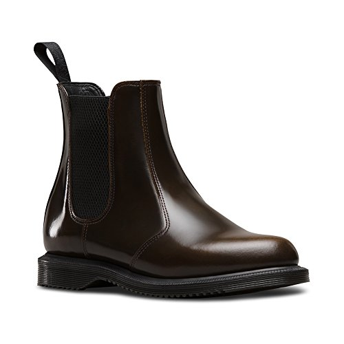 Dr. Martens Flora Femme - Marron - Peau Flecs Boots G9fAuKq,