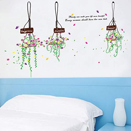 Diy Home Decor Elegante Farbe Korb Wandaufkleber Für Dekoration Haus Restaurant Tür