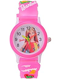 PRIMESHOP Analogue Girls' Watch (White Dial Pink Colored Strap)