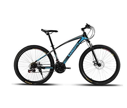 QWE Mountain Bike 21 velocità Mountain Bike Freno a Disco da 26 Pollici a Doppia Sospensione per Bicicletta