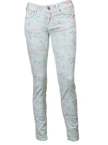 CIMARRON Damen Jeans Hose Regular Fit gerades Bein - Baumwolle - grün misty jade 30
