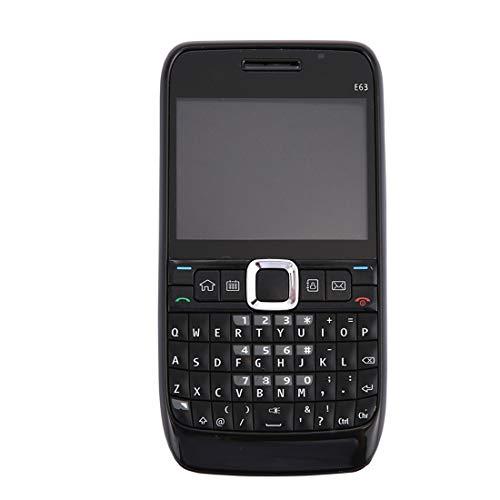 YIHUI Ersatzteile reparieren Voller Gehäusedeckel (vordere Abdeckung + mittlere Blende + Akku-Rückseite + Tastatur) für Nokia E63 (schwarz) Reperatur-Teile (Farbe : Black) E63 Lcd
