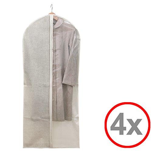 Kleidersack Kleiderhülle Anzugsack Anzug Schutzhülle, transparent, lang oder kurz - Aufbewahrung...