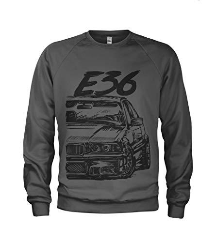 1/4 Mile E36 M3 3 Series Herren Sweatshirt Pullover #2066 (XL, Dunkelgrau)