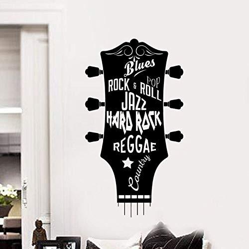 zqyjhkou Vinyl Wall Poster Gitarren Tapete Wohnzimmer Dekoration Musik Gitarre Abnehmbare Wandtattoos Kinderzimmer Wand Poster Ay1264 31x57 cm