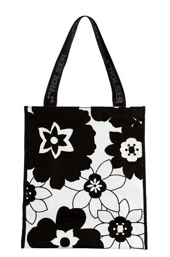 ROLSER Shopping Bag Flora, Borsa con maniglia unisex adulto Multicolore (Nero/Bianco)