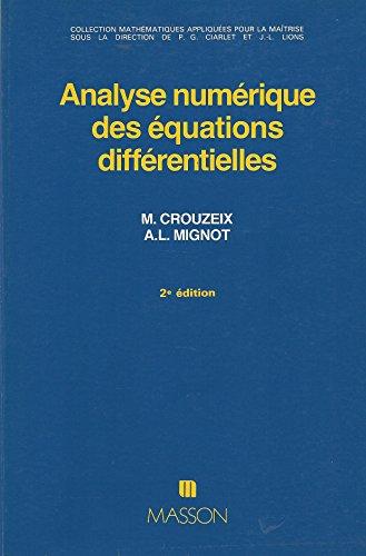 Analyse numérique des équations différentielles