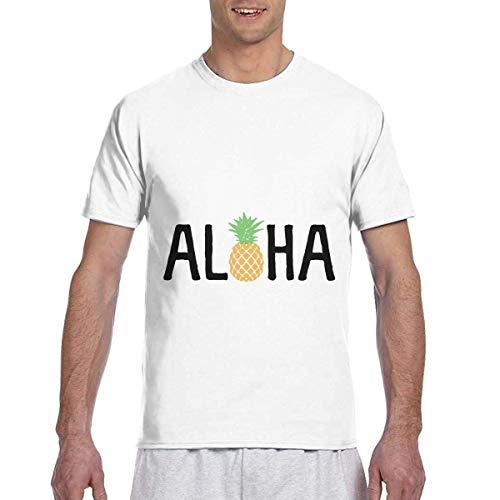 T-shirt men's casual short sleeve aloha beaches pineapple hawaii printed shirts crew neck tee s