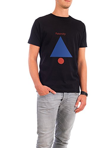 "Design T-Shirt Männer Continental Cotton ""Paternity"" - stylisches Shirt Geometrie von Simon Ecker Schwarz"