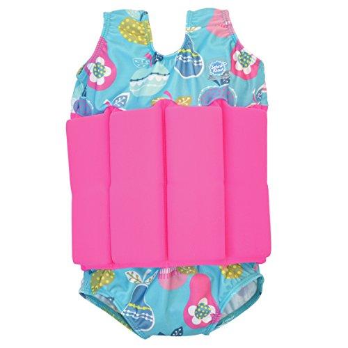 Splash About Mädchen Kinder Float-Anzug, blau (Tutti Frutti), L (Groß - 4-6 Jahre)