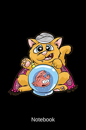 Notebook: Fortune Teller Cat (Magic Fish Bowl)