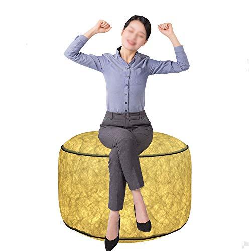 Malux sedia gonfiabile, all'aperto impermeabile illuminazione a led sedia gonfiabile sedia a sdraio portatile in pvc con telecomando per cambiare colore per casa/giardino/campeggio
