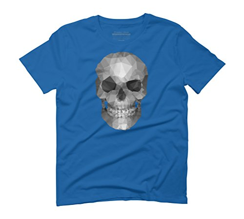 Skull polygons Men's Graphic T-Shirt - Design By Humans Royal Blue