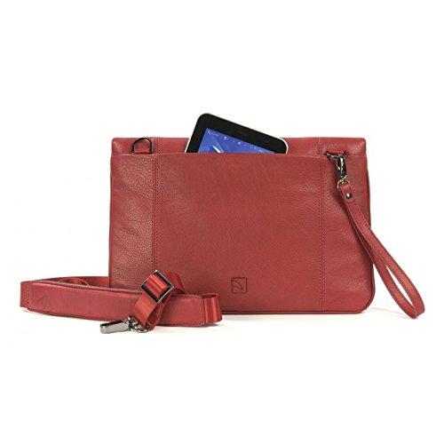TUCANO - Borsa in vera pelle per MacBook Air 11/Ultrabook marrone Rosso