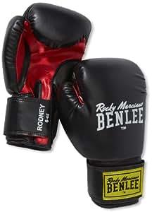 BENLEE Rocky Marciano Boxhandschuhe Training Glovess Rodney, Schwarz/Rot, 06, 194007