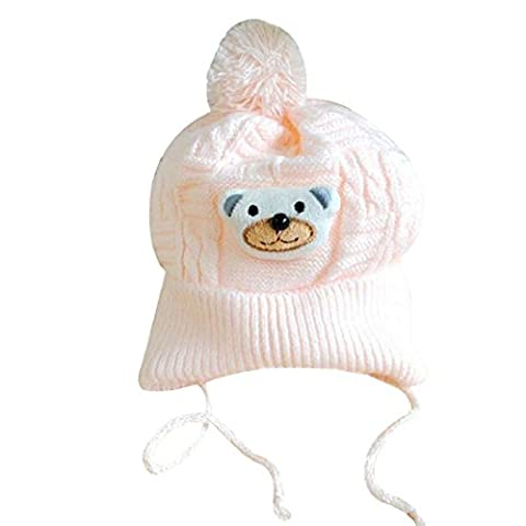 Bluelans® Baby Newborn Soft Winter Warm Hat Knitted Beanie Cap Pom Pom, 0-18 Months