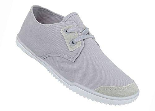 Damen Schuhe Freizeitschuhe Sneakers Hellgrau 41 3EcBg