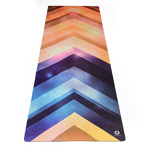 Inner Living - Esterilla de yoga, 3,5 mm, antideslizante, alta calidad, mayor agarre con el sudor, reversible, ecológica, lavable a máquina, 176 x 62 cm , Connect
