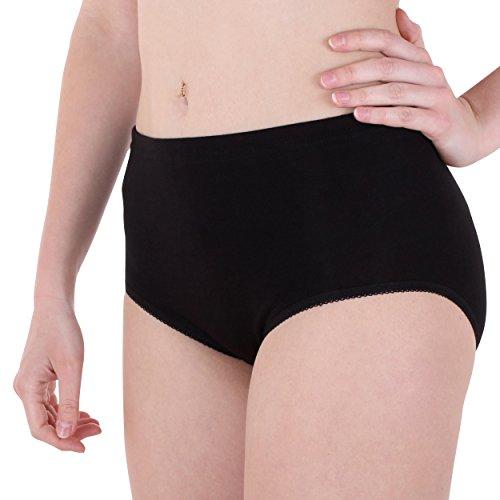 3er Pack Damen Slips Nr. 330 (Schlüpfer, Unterhose) (2090) Schwarz