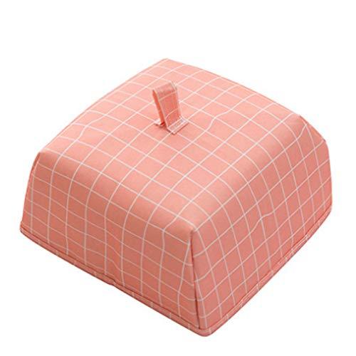 Ailizhen Rationelle Foldfoodabdeckung Aluminium -Schaumstoff -Tisch Warmwasser -Bodenbedeckung Platten -Abdeckung Fliegen Moskito Dustproof Food Cover(None Small red-Plaid)