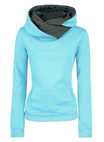 Herbst Winter Kapuzenpullover Damen einfarbig Sweatshirt Langarm Pullover  Hoodie Kapuzenpullis Vorne Taschen 3a9233727d