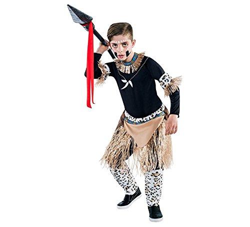 Imagen de disfraz de guerrero zulú para niño