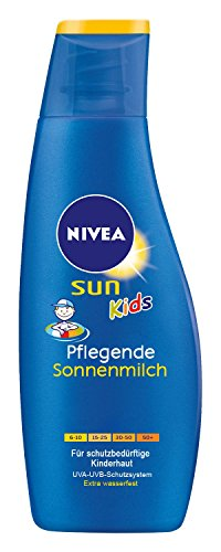 Nivea Sun Kids Pflegende Sonnenmilch LSF 50+, 1er Pack (1 x 200 ml)