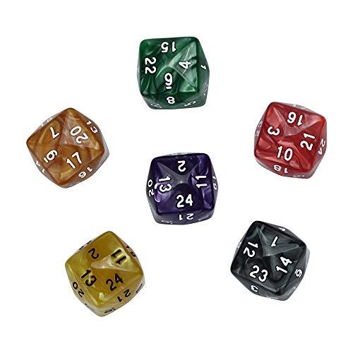 ,Rifuli® 7 Teile / Satz TRPG Spiel Dungeons & Dragons Polyhedral D4-D20 Mehrseitige Acrylwürfel Brettspiele Würfelbecher Würfel Zubehör Tisch Spiel Würfel ()