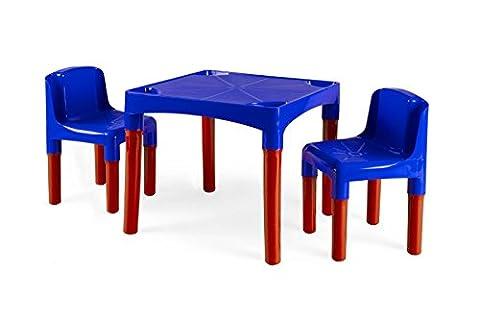 KIDS TABLE & 2 CHAIR SET CHILDREN KIDDY PLASTIC BOYS