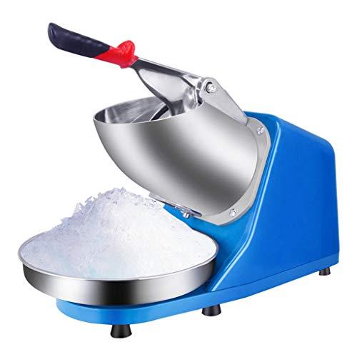 picadora de Hielo Comercial Pequeña máquina de Hielo raspada Diseño de Doble Cuchillo, Rompiendo Hielo a Alta Velocidad