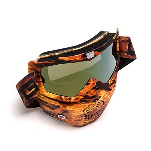 Motorrad-Sonnenbrille Goggle Protective Gears Flexible Motorradbrille Motorcross MX getönte UV-Tierbrille Gesichtsmaske