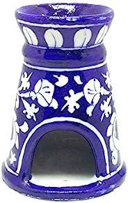 Aditya Blue Art Pottery Decorative Ceramic Oil Diffusers (Blue, 11 x 8.50 x 6 cm)