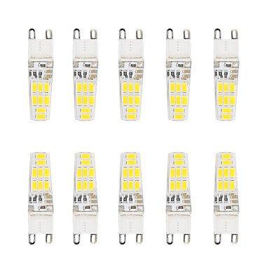WELSUN Ampoule G9 Led 3W 16 SMD 5730 200-220 lm Blanc Chaud / Blanc Froid Etanches V 10 pièces ( Light Source Color : Cool White )