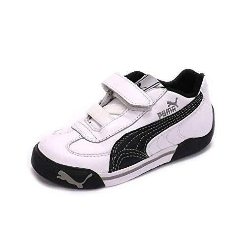 c1e37e582e763 Puma SPEED CAT 2.9 LOW V Chaussures Mode Sneakers Enfant Cuir Noir Blanc