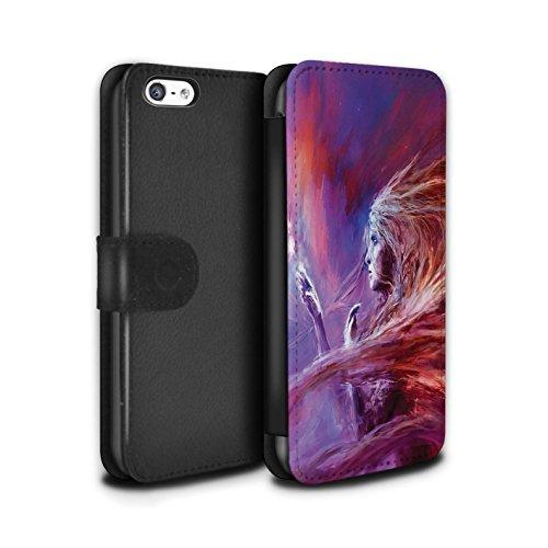 Offiziell Chris Cold PU-Leder Hülle/Case/Tasche/Cover für Apple iPhone 5C / Arcularius Nebel Muster / Fremden Welt Kosmos Kollektion Raum Mädchen