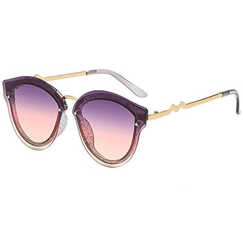 Skater Kostüm De Brille - kolila Damen Herren Brillen Sonnenbrillen Vintage Retro Unisex Unregelmäßigen Spiegel Metallrahmen Mode Brillen Brillen(D)