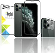 [2 Pack] iTedel 2.5D 9H Premium Glass Screen Protector + 3D 9H Camera Lens Protector for Apple