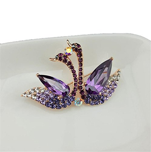 clyz-double-snuggle-crystal-swan-broche-femmes-mode-corsage-pin